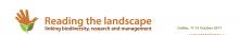 Reading the Landscape Biodiversity Conference Logo