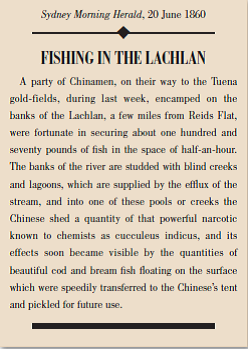 Fishing in the Lachlan Newspaper Story