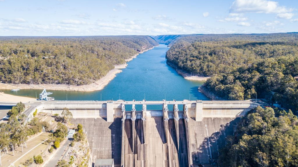 Aerial Image of Warragamba Dam